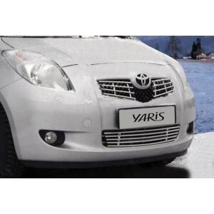 """Декоративный элемент воздухозаборника d10 (5 трубочек) """"Toyota Yaris"""" хром, TYAR.97.2230"""
