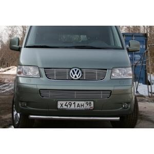 """Декоративные элементы решетки радиатора d10 """"Volkswagen Multivan California"""" (4x4) хром, VWMU.92.2150"""