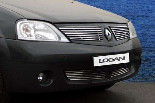 Декоративные элементы решётки радиатора Renault Logan 2004 – 2015