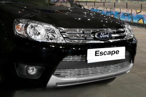 "Декоративный элемент воздухозаборника d10 (3 эл.: верх-2х3, низ-1х5 труб.) ""Ford Escape"" 2008- хром, FESC.97.2112"