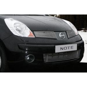 """Декоративные элементы решётки радиатора d10 (2 элемента по 8 трубочек) """"Nissan Note"""" хром, NNOT.92.2238"""