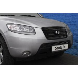 Декоративные элементы решётки радиатора d10 (3 элемента из 4 трубочек ) Hyundai Santa Fe 2006-10хром, HSFE.92.2265