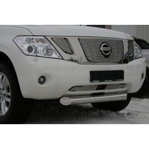 """Декоративные элементы решётки радиатора d10 (2 элемента) """"Nissan Patrol"""" 2010-, NPAT.96.2076"""