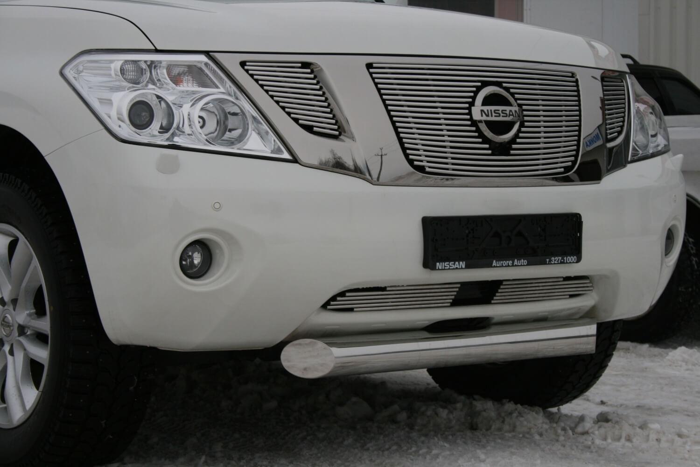 """Декоративные элементы  воздухозаборника d10 (2 элемента) """"Nissan Patrol"""" 2010- хром, NPAT.97.2178"""