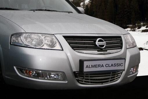 """Декоративный элемент воздухозаборника d10 (1 элемент из 5 трубочек) """"Nissan Almera Classic"""" хром, NALM.97.2241"""