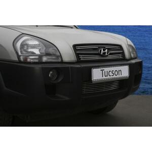 """Декоративные элементы решётки радиатора d10 (2 элемента - верх+низ) """"Hyundai Tucson"""" хром, HTUC.92.2267"""