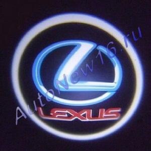 Лазерная проекция с логотипом Lexus, фото 2