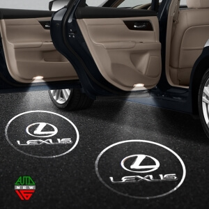 Лазерная проекция с логотипом Lexus