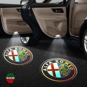Лазерная проекция с логотипом Alfa Romeo