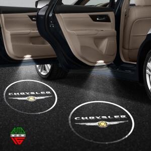 Лазерная проекция с логотипом Chrysler