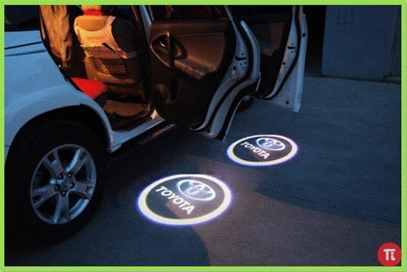 Лазерная проекция с логотипом Cadillac, фото 2