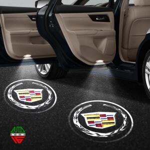 Лазерная проекция с логотипом Cadillac