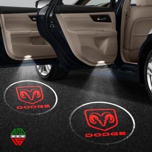Лазерная проекция с логотипом Dodge