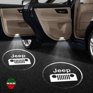 Лазерная проекция с логотипом Jeep