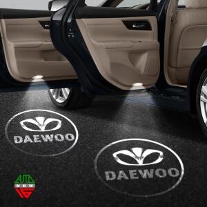 Лазерная проекция с логотипом Daewoo