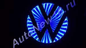 Шильдик с подсветкой Volkswagen (VW)