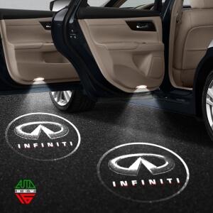 Лазерная проекция с логотипом Infiniti