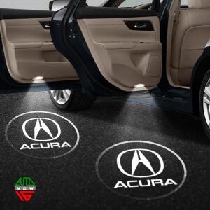 Лазерная проекция с логотипом Acura