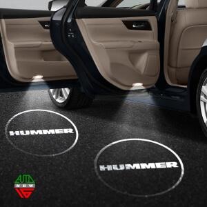 Лазерная проекция с логотипом Hummer