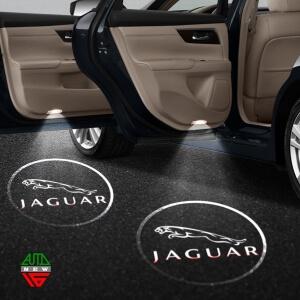 Лазерная проекция с логотипом Jaguar