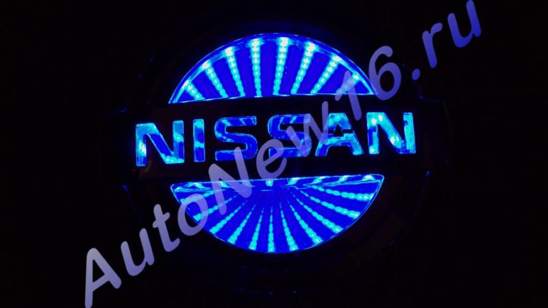 Шильдик с подсветкой Nissan
