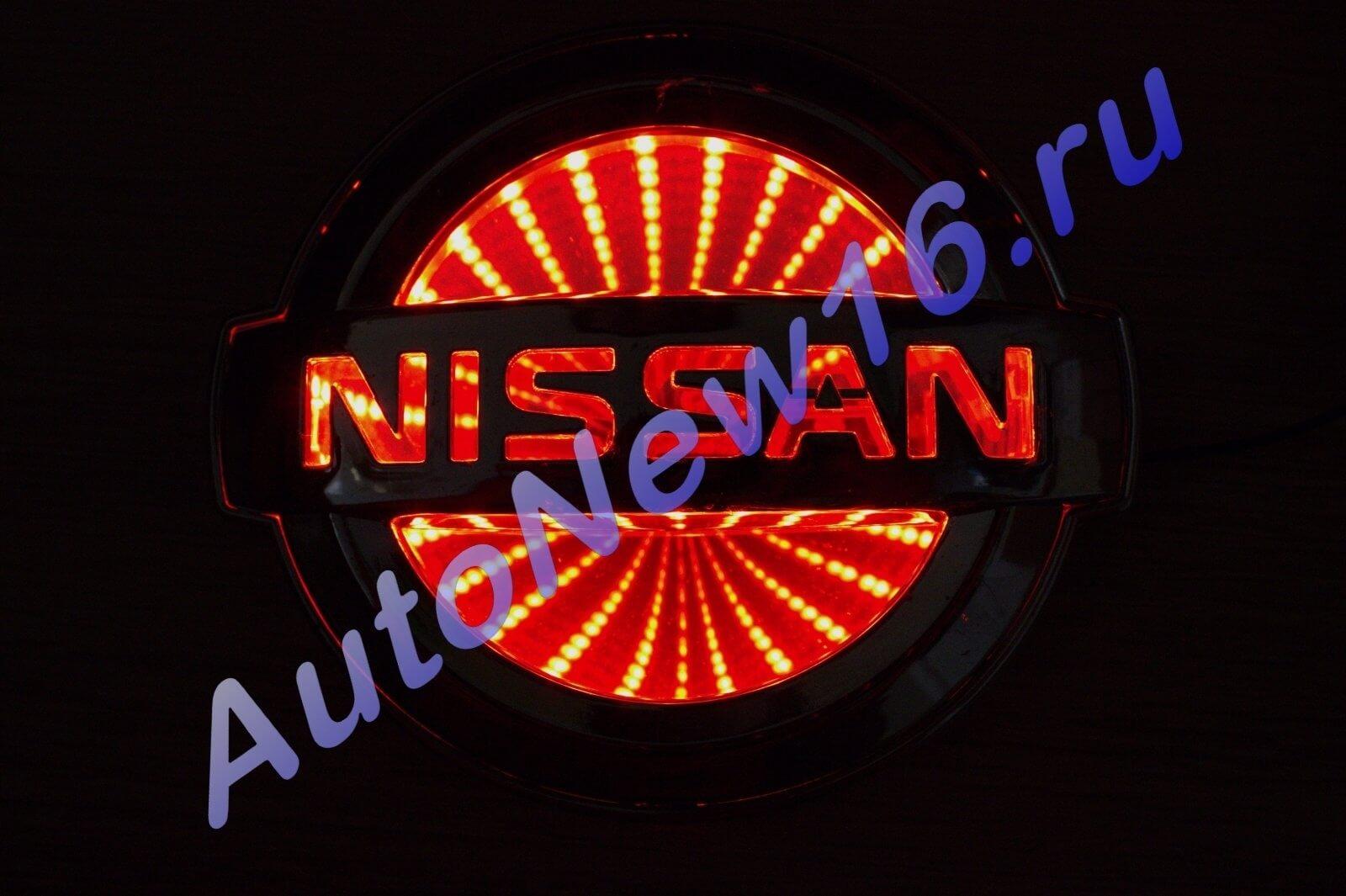 Шильдик с подсветкой Nissan, фото 2