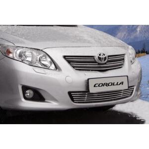 Декоративные элементы решётки радиатора  d 10  (5 трубочек) Toyota Corolla 2009-, TCOR.96.0927