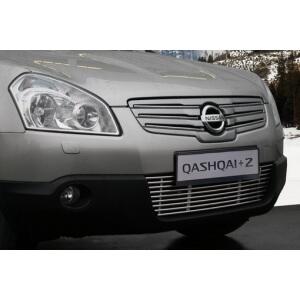 Декоративные элементы решетки радиатора Nissan Qashqai+2 2008 – 2010