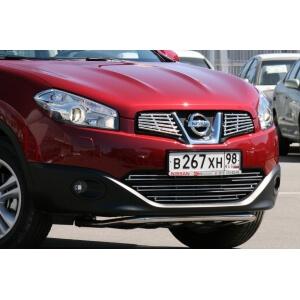 """Декоративные элементы решётки радиатора d10 (2 элемента по 6 трубочек) """"Nissan Qashqai"""" 2010- хром, NQSH.92.2164"""