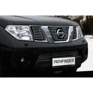Декоративные эл. решётки радиатора d10 (3 эл. (2*8+1*9 трубочек)) Nissan Pathfinder/Navara хром, NPTF.92.2249