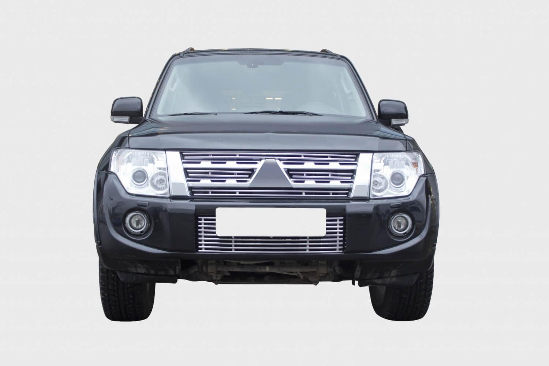Декоративные элементы решетки радиатора,d10,Mitsubishi Pajero IV 2011- хром, MIPJ.92.2288