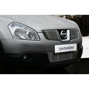 Декоративные элементы решетки радиатора Nissan Qashqai 2006 – 2010