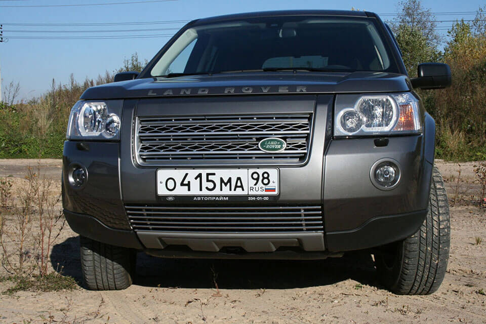 Декоративные элементы решётки радиатора d10(3 эл. из 2 труб.)Land Rover Freelander II 2007-2010 хром, LRFR.92.2173