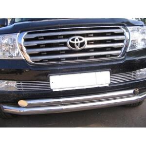 Декоративные элементы воздухозаборника d10(2 элем. по 6 трубочек) Toyota Land Cruiser 200 2007- хром, TC20.97.2231