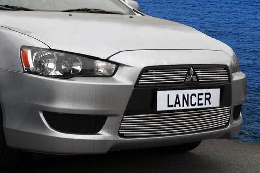 Декоративные элементы решётки радиатора Mitsubishi Lancer 10