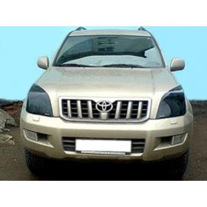 Защита передних фар Toyota Land Cruiser Prado 120 (темные)