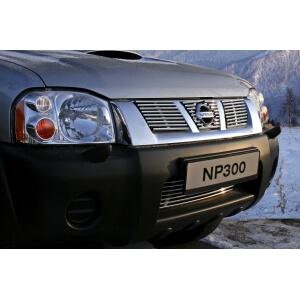 """Декоративные элементы решетки радиатора d10 (3 элемента из 9 трубочек) """"Nissan NP300"""" хром, NINP.92.2143"""