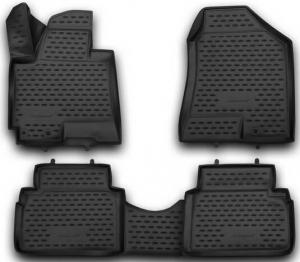 Коврики 3D в салон HYUNDAI ix35 2010->, 4 шт. (полиуретан)