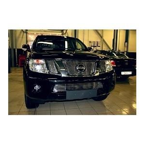 """Декоративный элемент воздухозаборника d10 (1 эл из 7 трубочек) """"Nissan Pathfinder/Navara"""" 2010- хром, NPTF.97.2176"""