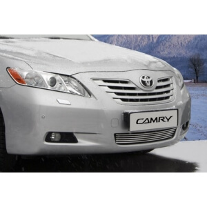 """Декоративный элемент воздухозаборника d10 (5 трубочек) """"Toyota Camry"""" 2009 хром, TCAM.97.2221"""