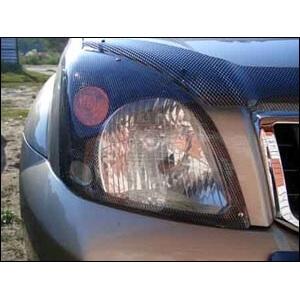Защита передних фар Toyota Land Cruiser Prado 120 (карбоновая)