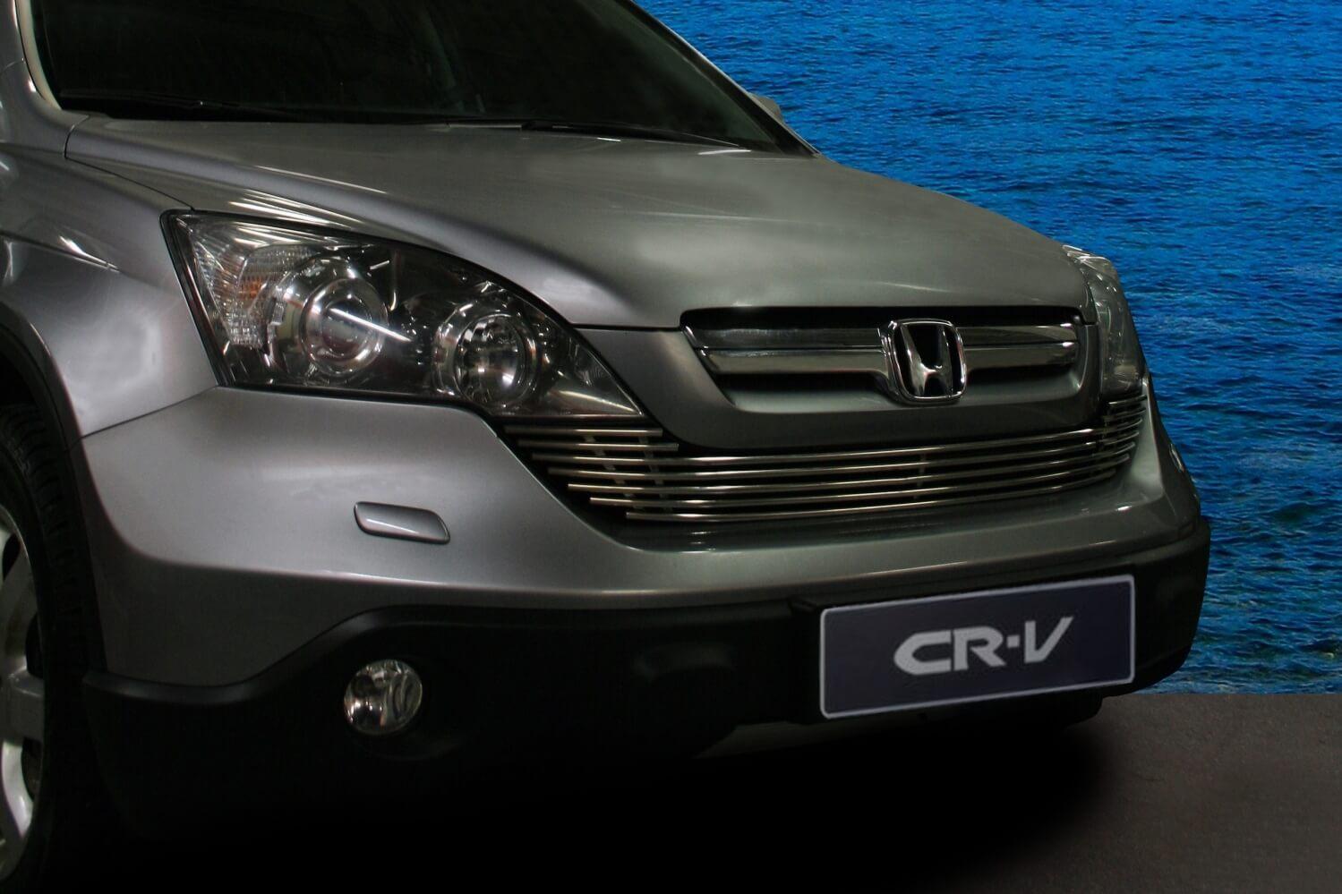 """Декоративный элемент решётки радиатора d10 (1 элемент из 7 трубочек) """"Honda CR-V"""" 2007- хром, HCRV.92.2134"""