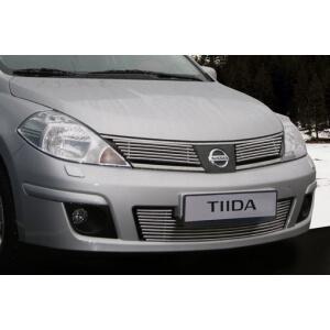 """Декоративный элемент воздухозаборника d10 (1 элемент из 10 трубочек) """"Nissan Tiida""""  хром, NTID.97.2243"""