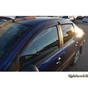 Дефлекторы Peugeot 206 Sd 2005
