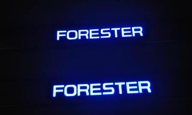 Накладка на пороги Subaru Forester SJ, фото 2