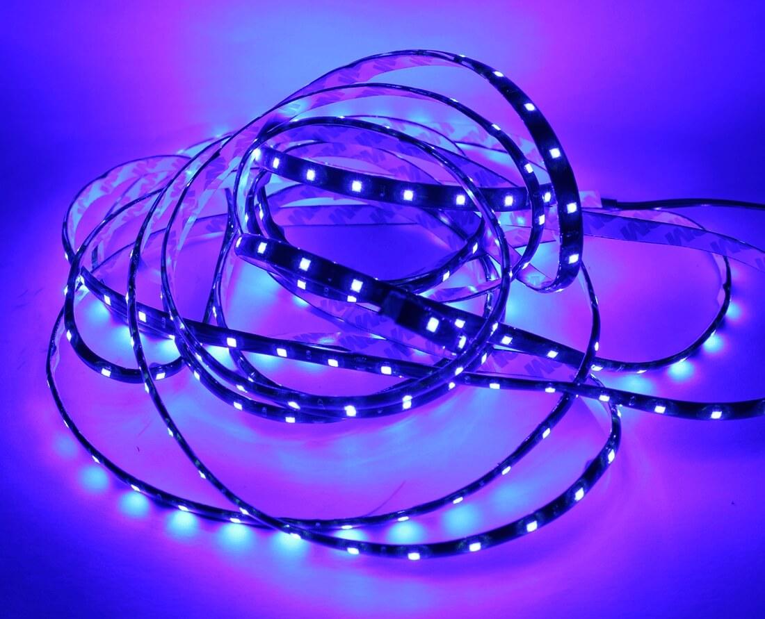 Фиолетовая светодиодная лента 5м., фото 2