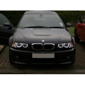 Ангельские глазки на BMW 3 E46 (галоген)