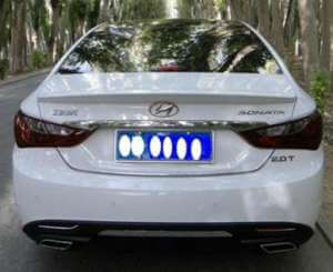 Лип-спойлер на Hyundai Sonata (1 тип)