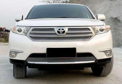 Хромированная решетка радиатора Toyota Highlander 2010-2014 (5 частей)