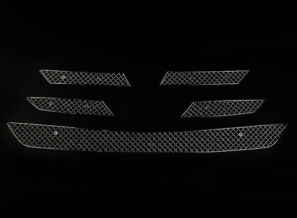 Хромированная решетка радиатора Toyota Rav4 (2013-2015) (5 частей), фото 3